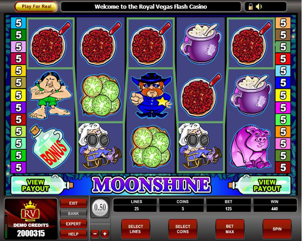 Moonshine slots