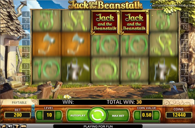 Jack and the beanstalk slot free online