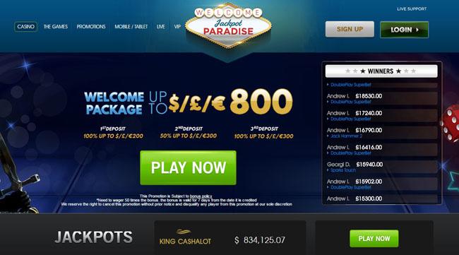 Jackpot Paradise UK
